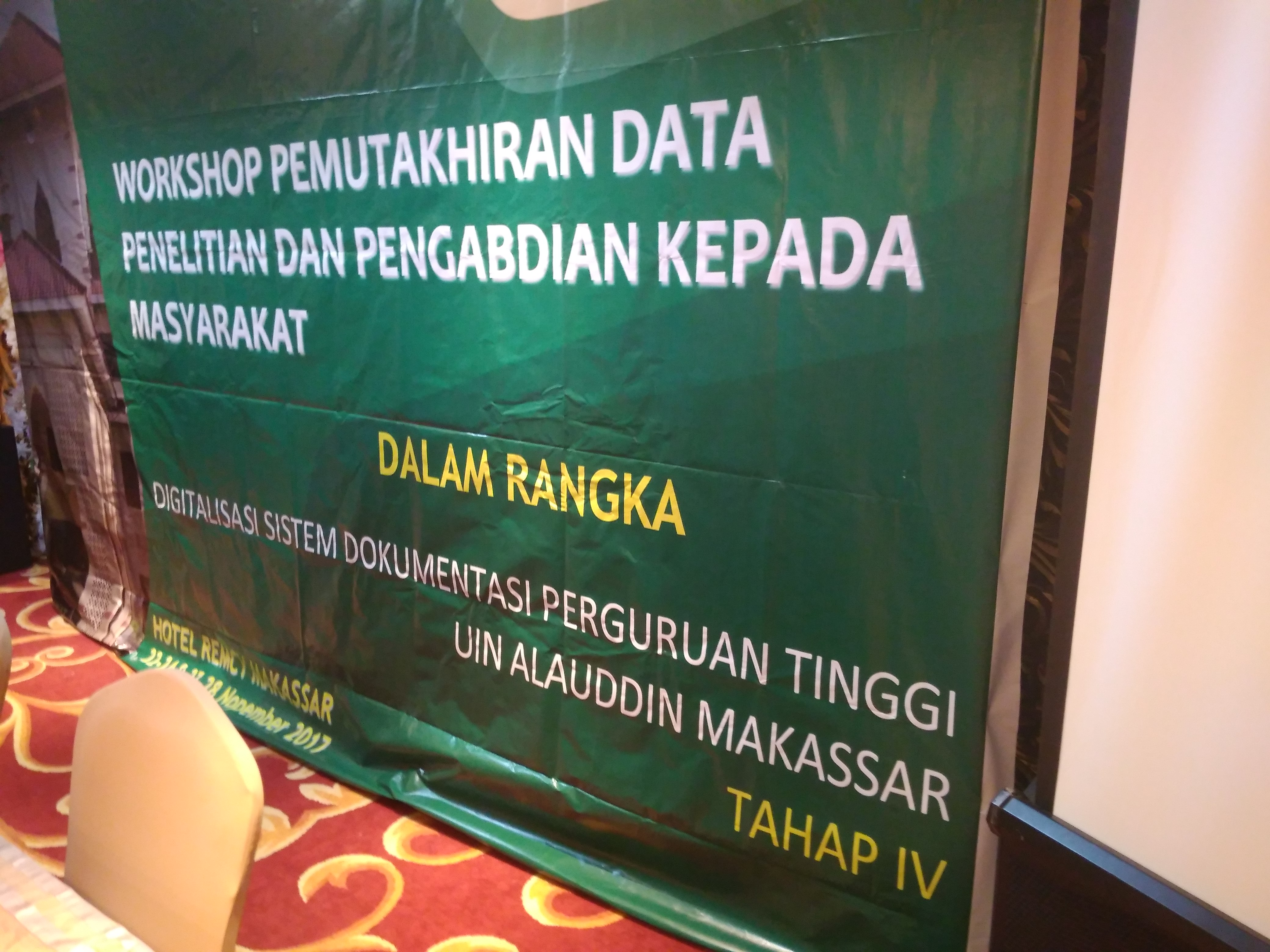 WORKSHOP PENGUATAN DATA PROGRAM DAN KEGIATAAN UNIT KERJA oleh LPM