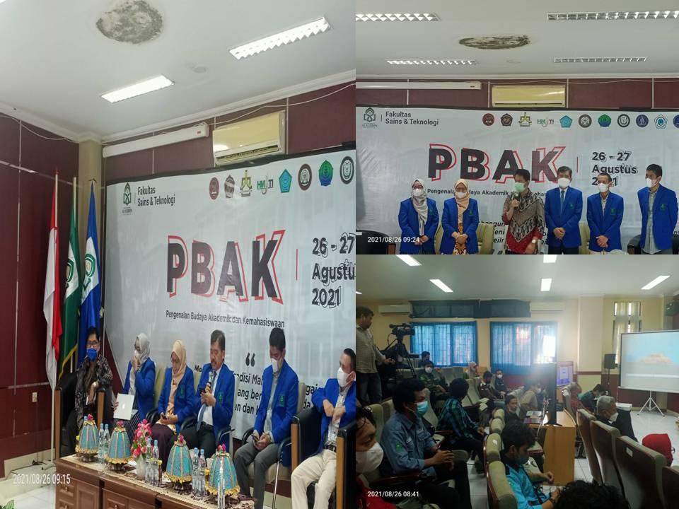 Pembukaan PBAK Online  Fakultas Sainstek 2021  sukses Digelar
